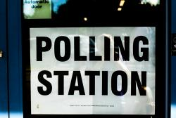 Polling station for election